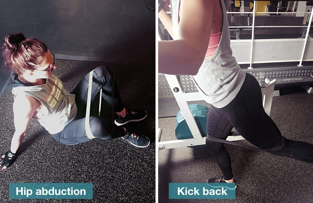 hip kick back musculation