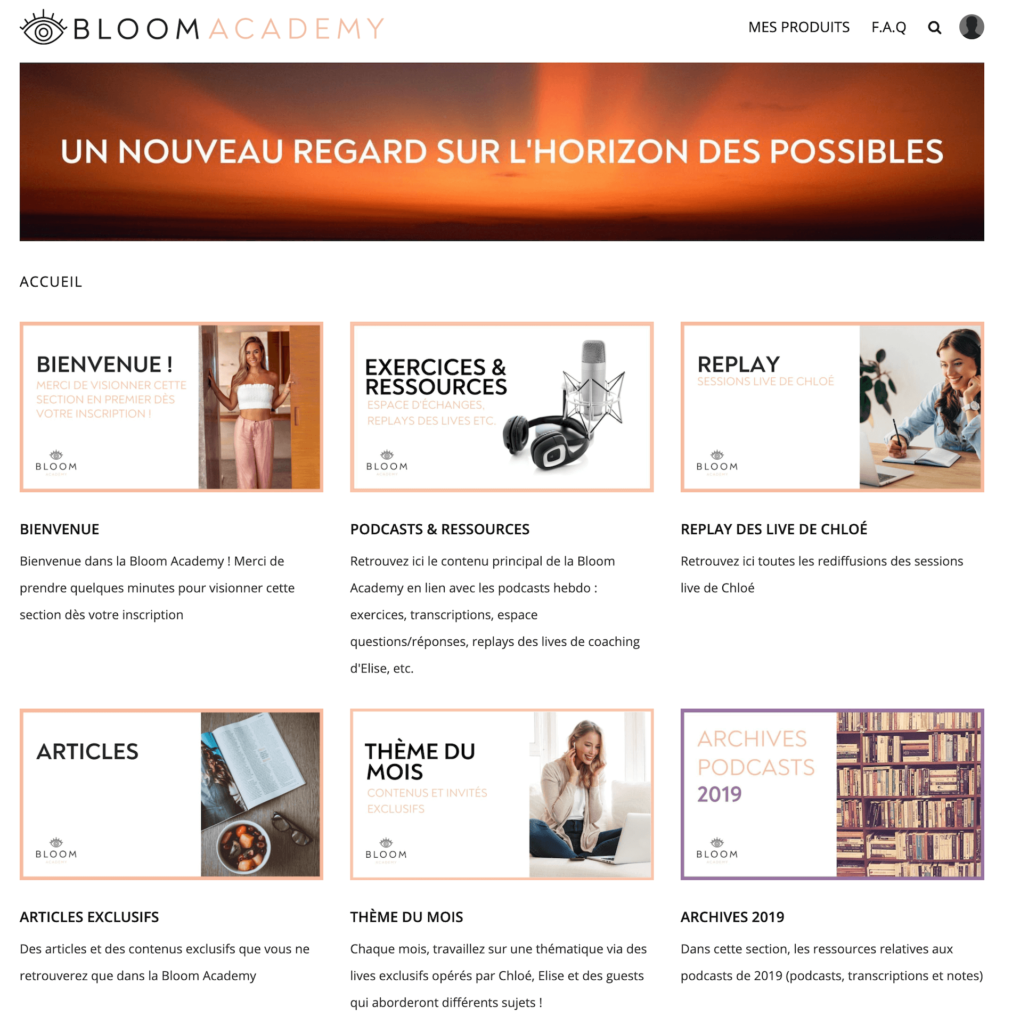 compte bloom academy