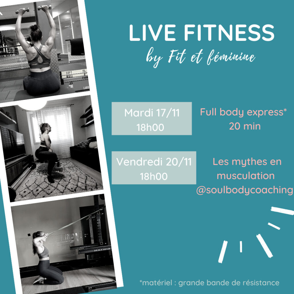 live fitness confinement 17 et 20 nov