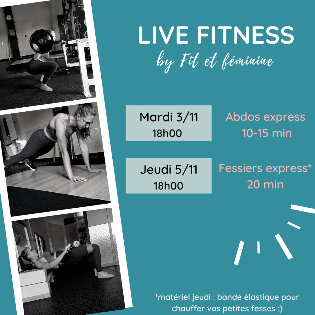 programme fitness live confinement
